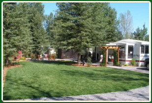 Lots for sale, many include trailers, garden sheds and gazebos, stone patios and firepits.