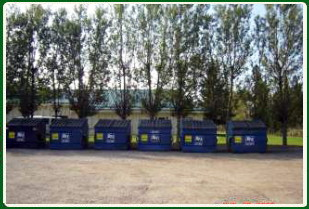 Waste management dumpsters are available for owners to help control garbage and to be environmentally proactive in this beautiful region of Alberta.